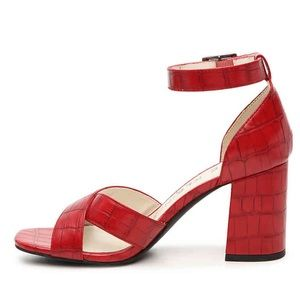 Anne Klein red block heel sandals